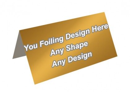 Golden Foiling - Header Card Packaging