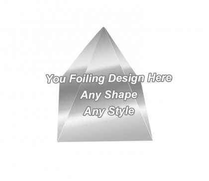 Silver Foiling - Pyramid Shape Boxes
