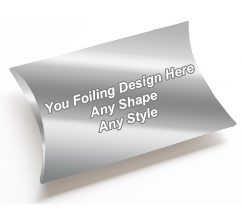 Silver Foiling - Pillow Style Packaging Boxes